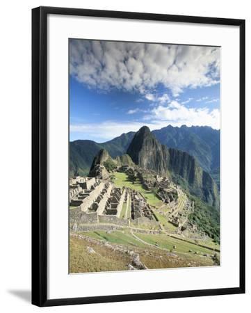 Inca Ruins in Morning Light, Machu Picchu, Unesco World Heritage Site, Urubamba Province, Peru-Gavin Hellier-Framed Photographic Print