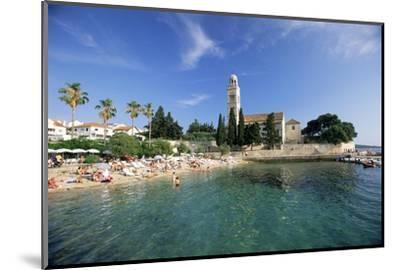 Franciscan Monastery and Beach, Hvar Town, Hvar Island, Dalmatia, Croatia-Gavin Hellier-Mounted Photographic Print