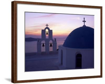 Greek Orthodox Church in Fira, Santorini (Thira), Cyclades Islands, Greece-Gavin Hellier-Framed Photographic Print