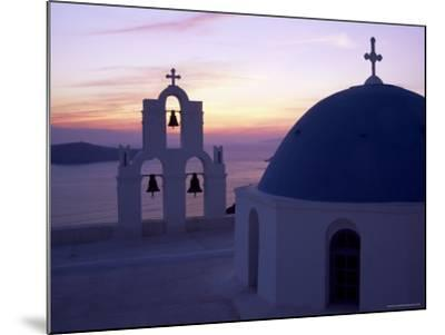 Greek Orthodox Church in Fira, Santorini (Thira), Cyclades Islands, Greece-Gavin Hellier-Mounted Photographic Print