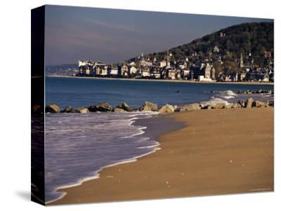 View from Pointe De Cabourg of Houlgate, Cote Fleurie, Basse Normandie, France-David Hughes-Stretched Canvas Print