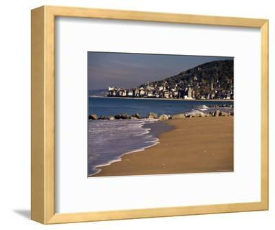 View from Pointe De Cabourg of Houlgate, Cote Fleurie, Basse Normandie, France-David Hughes-Framed Photographic Print