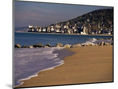 View from Pointe De Cabourg of Houlgate, Cote Fleurie, Basse Normandie, France-David Hughes-Mounted Photographic Print