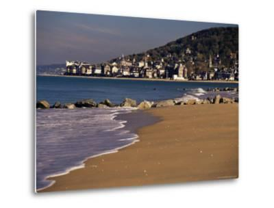 View from Pointe De Cabourg of Houlgate, Cote Fleurie, Basse Normandie, France-David Hughes-Metal Print