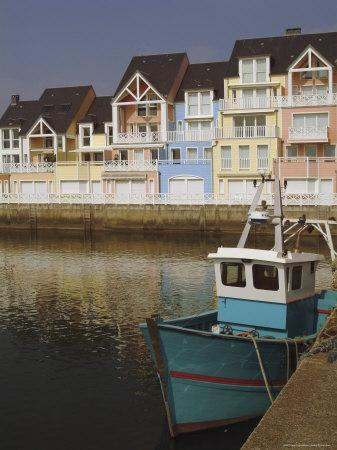 Holiday Flats Overlooking the Port, Deauville, Calvados, Normandy, France-David Hughes-Premium Photographic Print