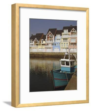 Holiday Flats Overlooking the Port, Deauville, Calvados, Normandy, France-David Hughes-Framed Premium Photographic Print