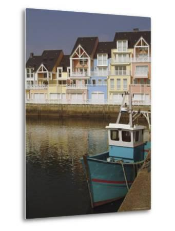 Holiday Flats Overlooking the Port, Deauville, Calvados, Normandy, France-David Hughes-Metal Print