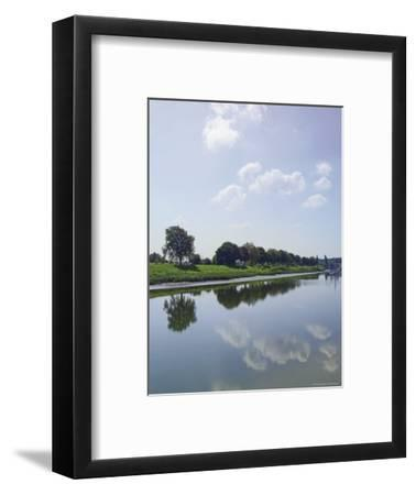 River Somme, St. Valery Sur Somme, Picardy, France-David Hughes-Framed Photographic Print