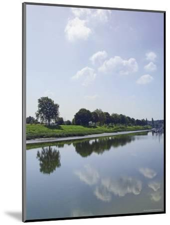 River Somme, St. Valery Sur Somme, Picardy, France-David Hughes-Mounted Photographic Print