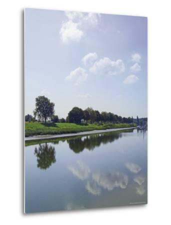 River Somme, St. Valery Sur Somme, Picardy, France-David Hughes-Metal Print