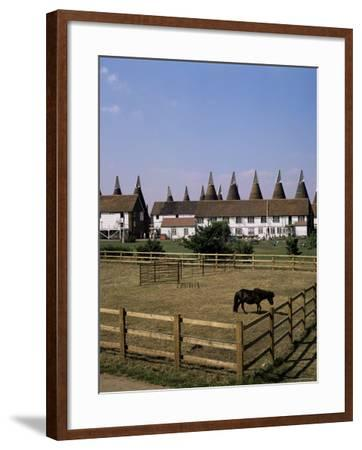 Oast Houses at Whitbread Hop Farm, Tonbridge, Kent, England, United Kingdom-G Richardson-Framed Photographic Print