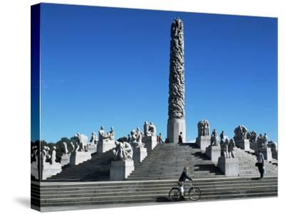 The Monolith, Gustav Vigeland Sculptures, Frogner Park, Oslo, Norway, Scandinavia-G Richardson-Stretched Canvas Print