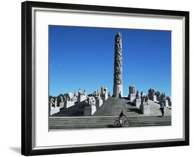 The Monolith, Gustav Vigeland Sculptures, Frogner Park, Oslo, Norway, Scandinavia-G Richardson-Framed Photographic Print
