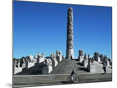 The Monolith, Gustav Vigeland Sculptures, Frogner Park, Oslo, Norway, Scandinavia-G Richardson-Mounted Photographic Print