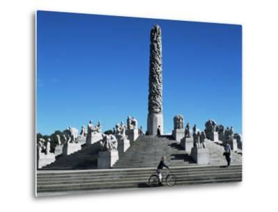 The Monolith, Gustav Vigeland Sculptures, Frogner Park, Oslo, Norway, Scandinavia-G Richardson-Metal Print