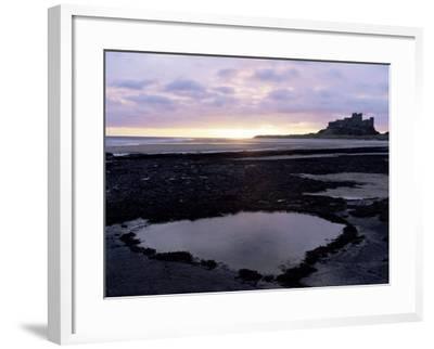 Bamburgh Castle at Sunrise, Bamburgh, Northumberland, England, United Kingdom-Lee Frost-Framed Photographic Print