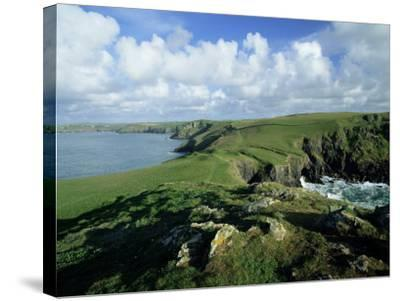 View Across Pentire Head to Coastline Near Polzeath, Cornwall, England, United Kingdom-Lee Frost-Stretched Canvas Print