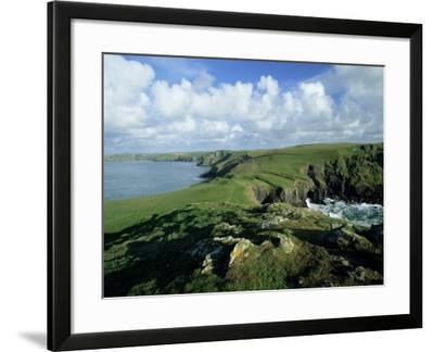 View Across Pentire Head to Coastline Near Polzeath, Cornwall, England, United Kingdom-Lee Frost-Framed Photographic Print
