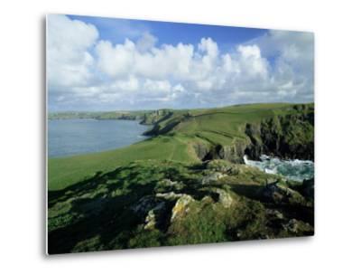 View Across Pentire Head to Coastline Near Polzeath, Cornwall, England, United Kingdom-Lee Frost-Metal Print