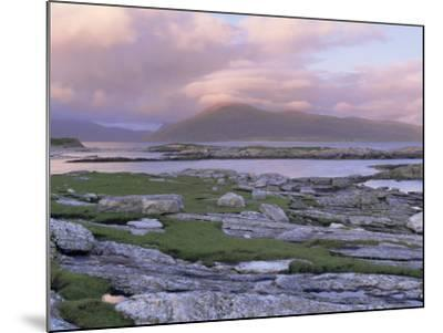 View Towards the Isle of Lewis and Old Schoolhouse, Taransay, Outer Hebrides, Scotland-Lee Frost-Mounted Photographic Print