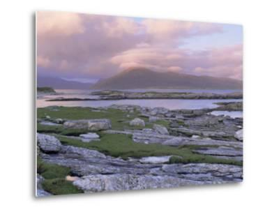 View Towards the Isle of Lewis and Old Schoolhouse, Taransay, Outer Hebrides, Scotland-Lee Frost-Metal Print