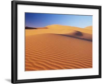 Sand Dune of the Erg Chebbi, Sahara Desert Near Merzouga, Morocco, North Africa, Africa-Lee Frost-Framed Photographic Print