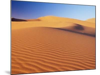 Sand Dune of the Erg Chebbi, Sahara Desert Near Merzouga, Morocco, North Africa, Africa-Lee Frost-Mounted Photographic Print