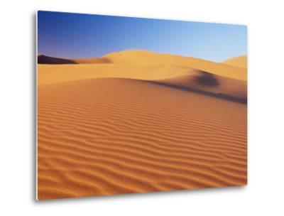 Sand Dune of the Erg Chebbi, Sahara Desert Near Merzouga, Morocco, North Africa, Africa-Lee Frost-Metal Print
