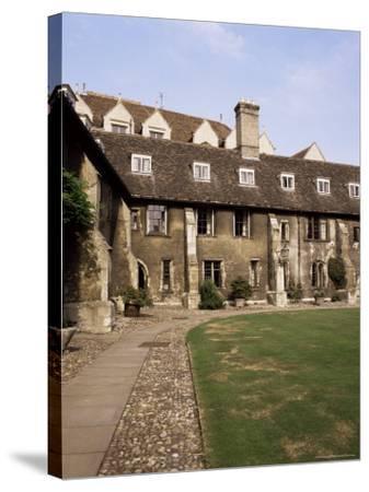 Oldest Quadrangle, Old Court, Corpus Christi, Cambridge, Cambridgeshire, England-Michael Jenner-Stretched Canvas Print