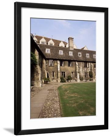 Oldest Quadrangle, Old Court, Corpus Christi, Cambridge, Cambridgeshire, England-Michael Jenner-Framed Photographic Print