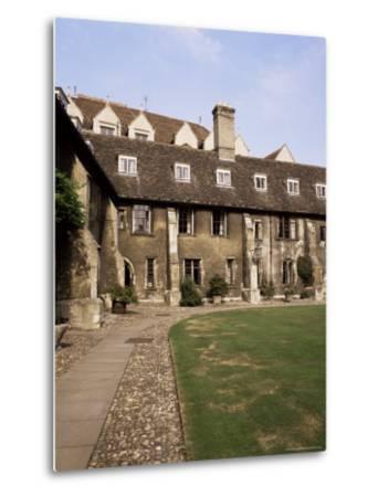 Oldest Quadrangle, Old Court, Corpus Christi, Cambridge, Cambridgeshire, England-Michael Jenner-Metal Print
