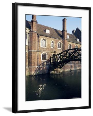 Mathematical Bridge, Queens' College, Cambridge, Cambridgeshire, England, United Kingdom-Michael Jenner-Framed Photographic Print