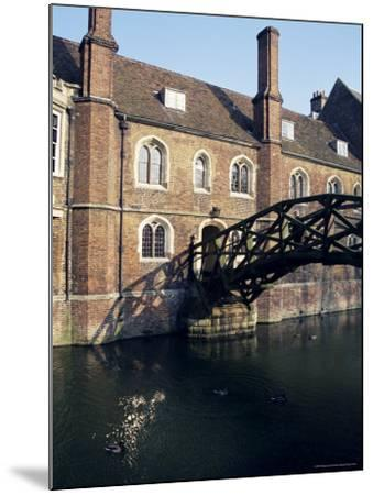 Mathematical Bridge, Queens' College, Cambridge, Cambridgeshire, England, United Kingdom-Michael Jenner-Mounted Photographic Print