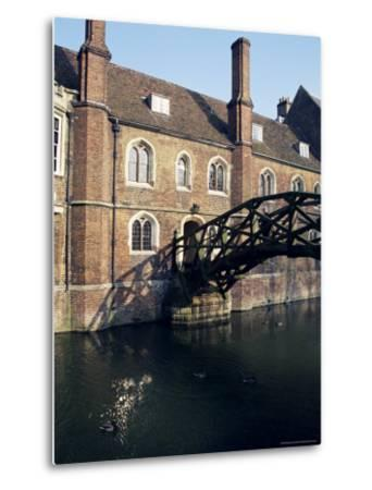 Mathematical Bridge, Queens' College, Cambridge, Cambridgeshire, England, United Kingdom-Michael Jenner-Metal Print