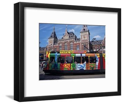 Central Station and Tram Terminus, Amsterdam, Holland-Michael Jenner-Framed Photographic Print