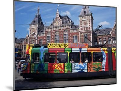Central Station and Tram Terminus, Amsterdam, Holland-Michael Jenner-Mounted Photographic Print