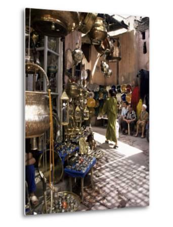 Handicraft Souk, Marrakech, Morocco, North Africa, Africa-Michael Jenner-Metal Print