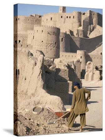 Restoration Work, Arg-E Bam, Bam, Unesco World Heritage Site, Iran, Middle East-David Poole-Stretched Canvas Print