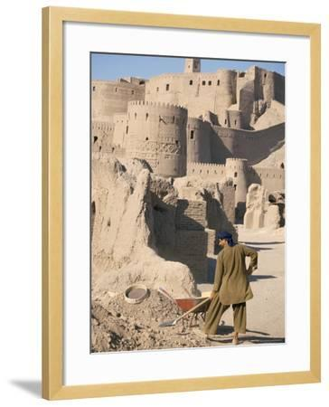 Restoration Work, Arg-E Bam, Bam, Unesco World Heritage Site, Iran, Middle East-David Poole-Framed Photographic Print
