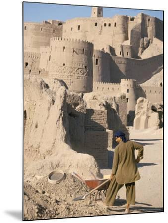 Restoration Work, Arg-E Bam, Bam, Unesco World Heritage Site, Iran, Middle East-David Poole-Mounted Photographic Print