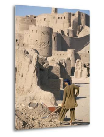 Restoration Work, Arg-E Bam, Bam, Unesco World Heritage Site, Iran, Middle East-David Poole-Metal Print