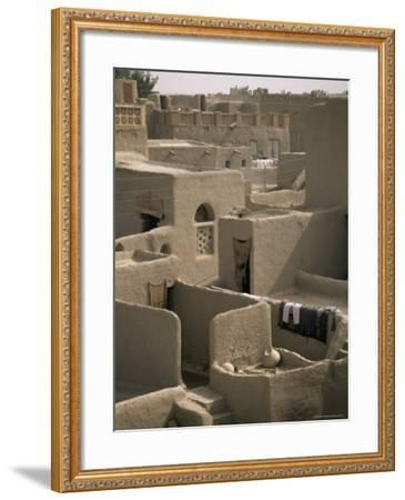 Mud-Walled Houses, Mopti, Mali, Africa-David Poole-Framed Photographic Print