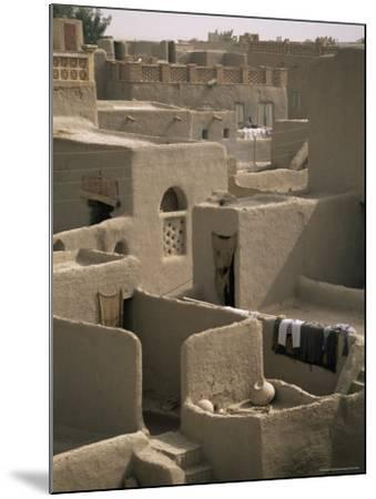 Mud-Walled Houses, Mopti, Mali, Africa-David Poole-Mounted Photographic Print