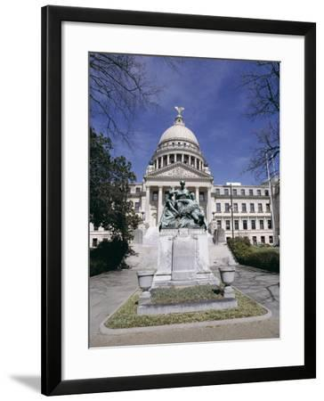 Confederate Women Monument Outside Mississippi State Capitol, Jackson, Mississippi, North America-Julian Pottage-Framed Photographic Print