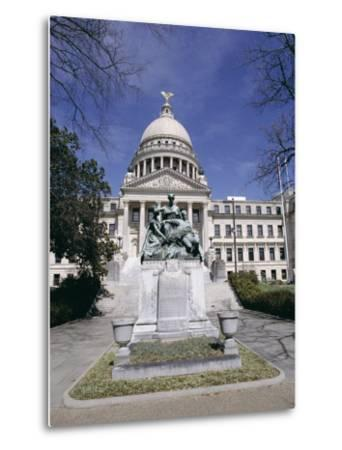 Confederate Women Monument Outside Mississippi State Capitol, Jackson, Mississippi, North America-Julian Pottage-Metal Print