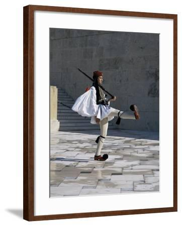Republican Guard, Parliament, Syntagma, Athens, Greece-Christopher Rennie-Framed Photographic Print