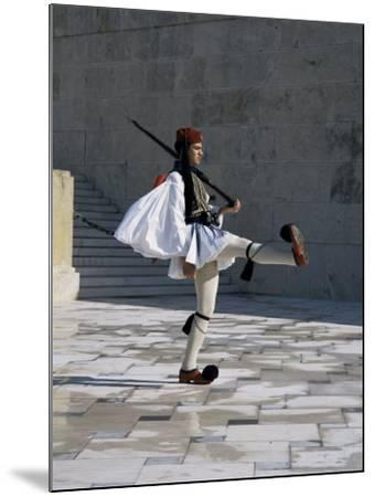 Republican Guard, Parliament, Syntagma, Athens, Greece-Christopher Rennie-Mounted Photographic Print