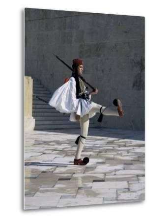 Republican Guard, Parliament, Syntagma, Athens, Greece-Christopher Rennie-Metal Print