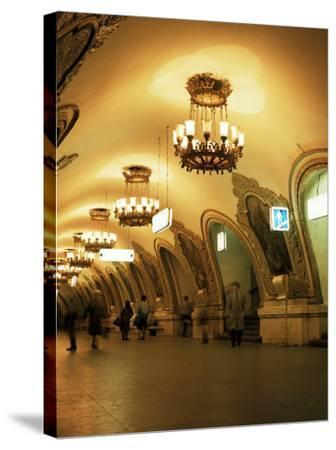 Kievskaya Metro Station, Moscow, Russia-Christopher Rennie-Stretched Canvas Print