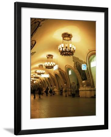 Kievskaya Metro Station, Moscow, Russia-Christopher Rennie-Framed Photographic Print